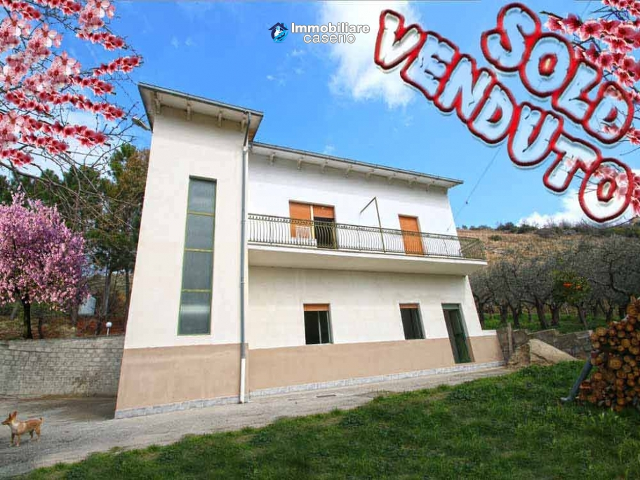 Habitable country house with land  and stone cottage for sale in Abruzzo, Italy