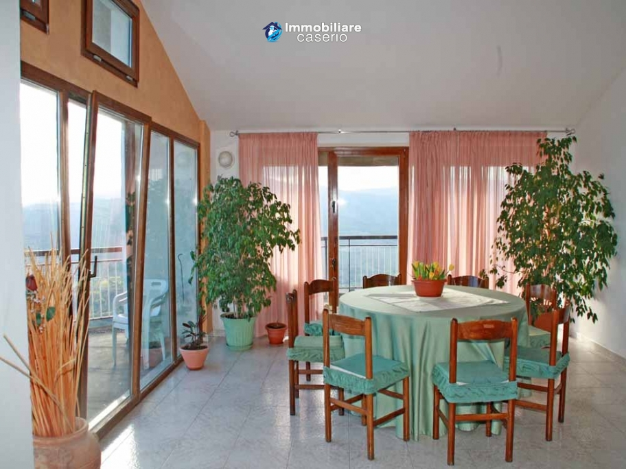 Attic independent and furnished with view of the hills for sale in Abruzzo, Italy