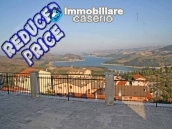 Habitable spacious home with stone tavern, terrace overlooking Liscione lake Italy 1