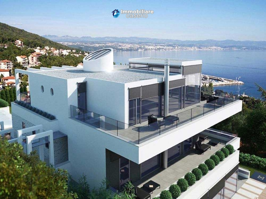 Villa by the sea for sale with two swimming pools in Opatija, Croatia
