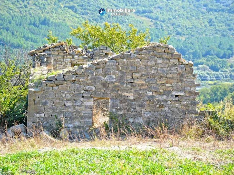 Ruin with 10 hectares of land for sale with sea view, Molise