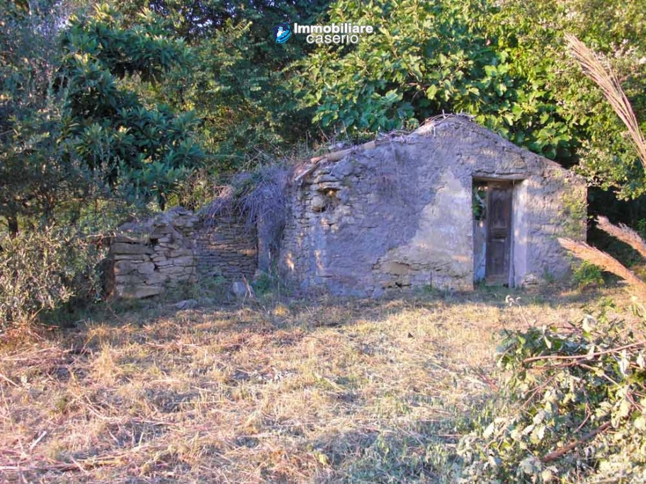 Properties for sale in Abruzzo - Ruin with land and water source for sale in Treglio