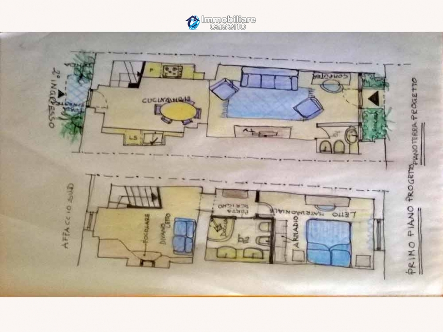 Two houses to be restored for sale in Molise, Italy - Village Mafalda