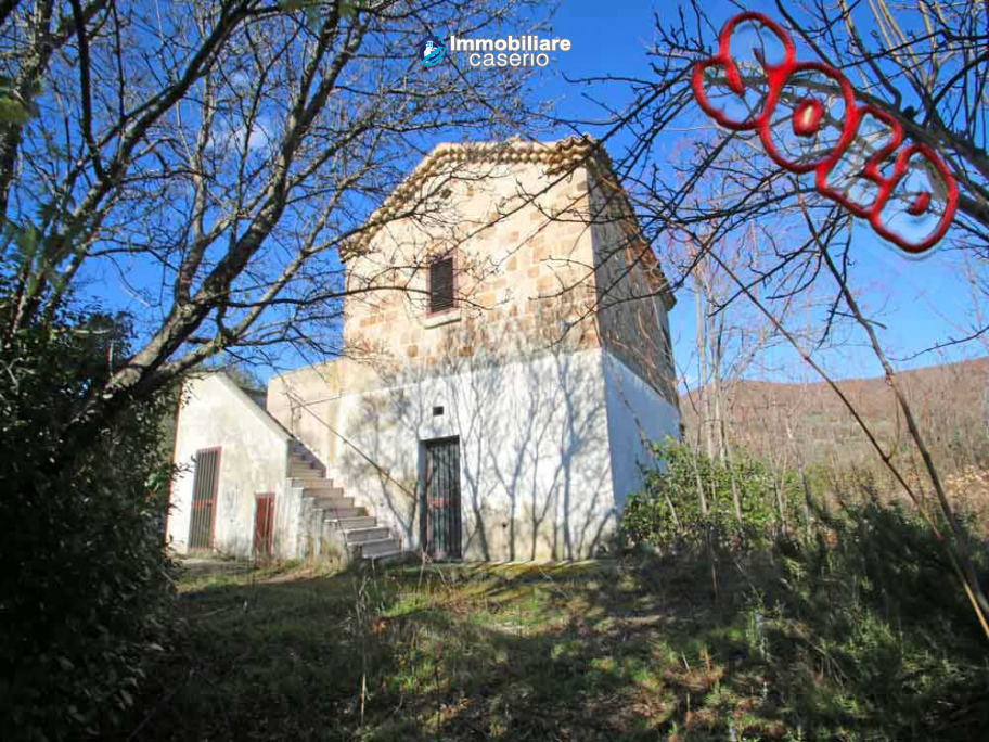 Farmhouse renovated with 5 hectares and terrace for sale in Italy - Village Lupara