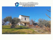 Cottage with sea view and flat land of about 2 hectares for sale in Abruzzo 1