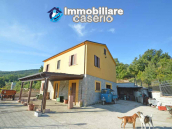 Detached country house with land and wooden veranda for sale in Carunchio 1