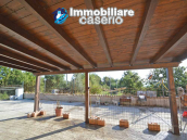 Detached country house with land and wooden veranda for sale in Carunchio 3
