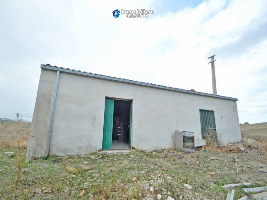 Stone farmhouse for sale in Molise with 6 hectares of land and 250 olive trees, Italy