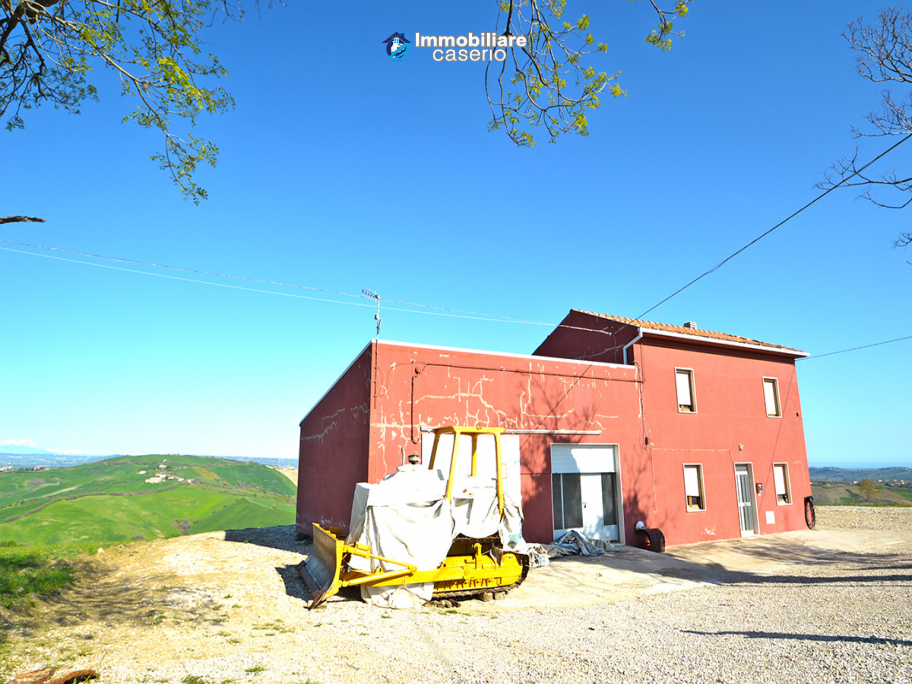 Property with building land and sea and mountain views for sale Abruzzo, Italy