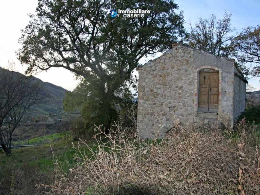 Stone house with an acre of land for sale in palmoli for Stone acre
