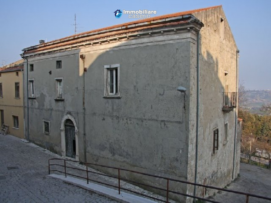 Ancient historic stone building in Montecilfone