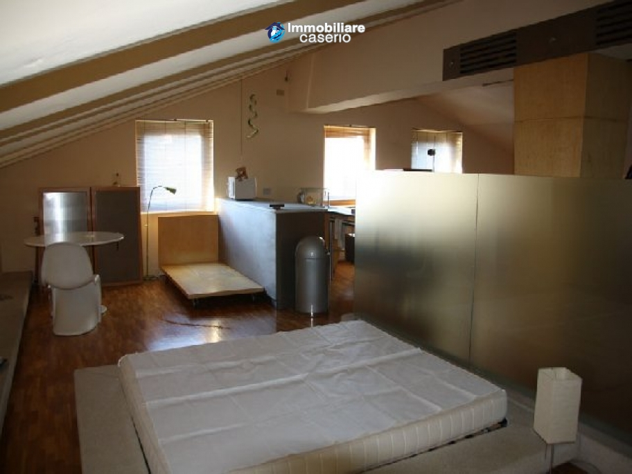 Lovely Refurbished Attic Room For Sale In Montenero Italy